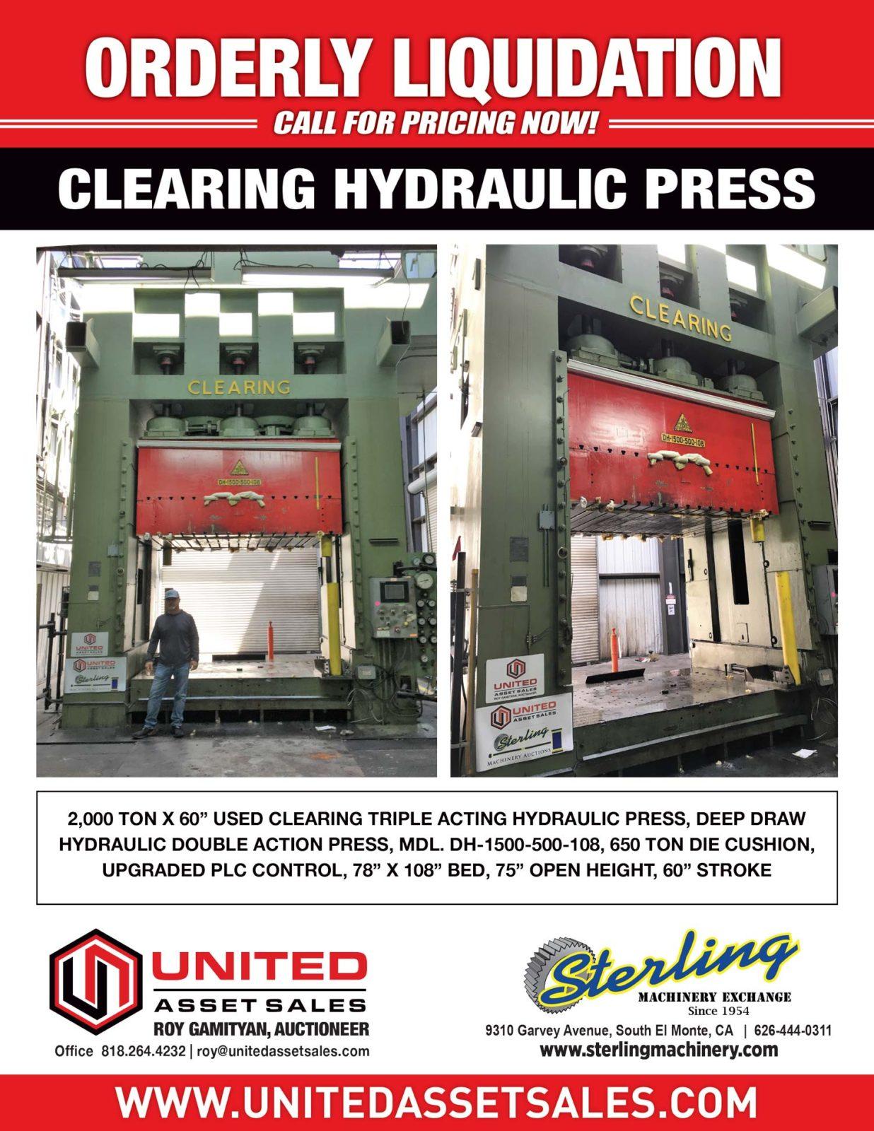 United Asset Sales | CNC Machine Shop, Fabrication Equipment